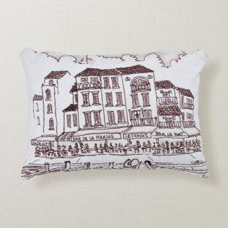Restaurants Waterfront | Cassis, France Decorative Cushion