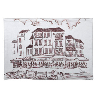 Restaurants Waterfront | Cassis, France Placemat