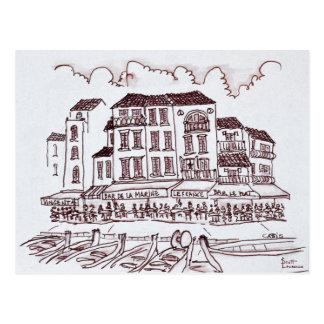 Restaurants Waterfront | Cassis, France Postcard