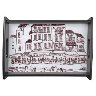 Restaurants Waterfront   Cassis, France Serving Tray