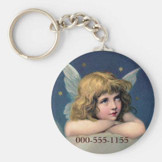 Resting Angel Key Chain Add your Phone No.