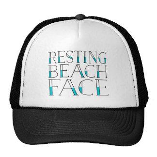 Resting Beach Face Summer Cap