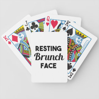 Resting Brunch Face Bicycle Playing Cards