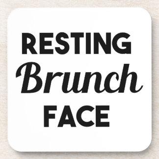 Resting Brunch Face Coaster