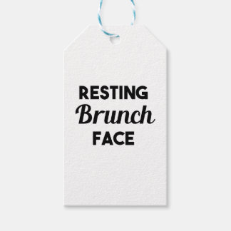 Resting Brunch Face Gift Tags