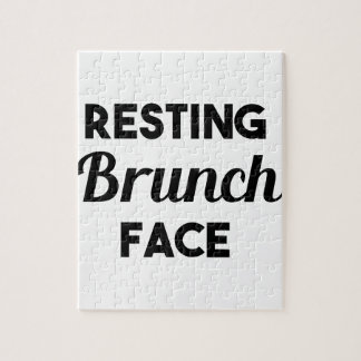 Resting Brunch Face Jigsaw Puzzle