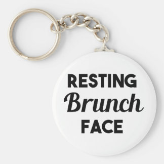 Resting Brunch Face Key Ring