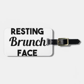 Resting Brunch Face Luggage Tag
