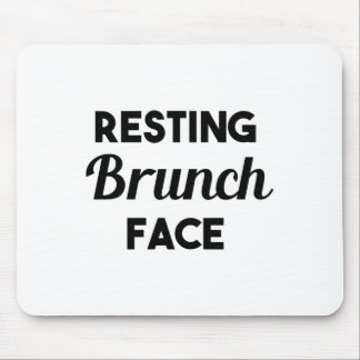 Resting Brunch Face Mouse Pad