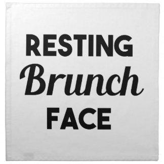 Resting Brunch Face Napkins