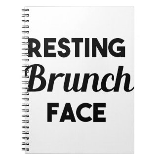 Resting Brunch Face Notebook