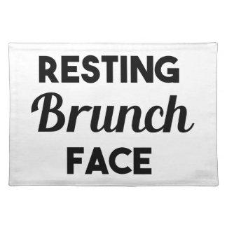 Resting Brunch Face Placemat