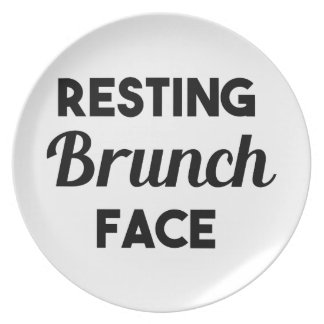 Resting Brunch Face Plate