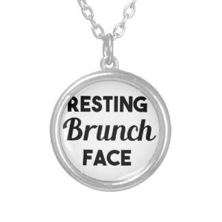 Resting Brunch Face Silver Plated Necklace