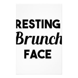 Resting Brunch Face Stationery