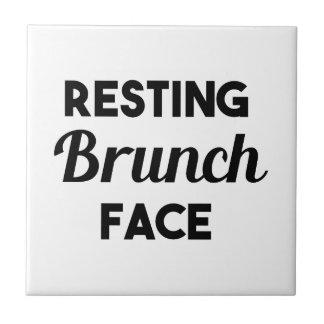 Resting Brunch Face Tile