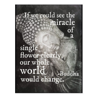 Resting Buddha Photo, Miracle of a Single Flower Postcard