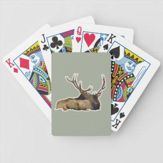 Resting bull elk bicycle playing cards