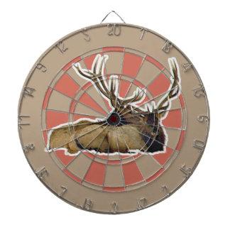 Resting bull elk dart board
