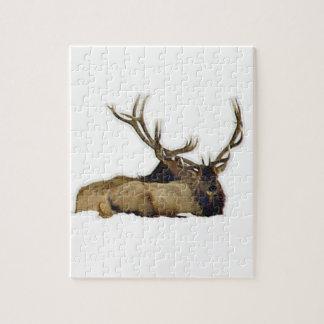 Resting bull elk jigsaw puzzle