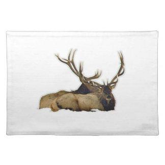Resting bull elk placemat