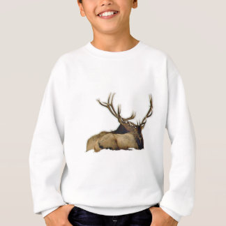 Resting bull elk sweatshirt