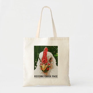 Resting Chick Face Tote