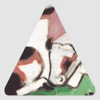 Resting Cows by Franz Marc Triangle Sticker