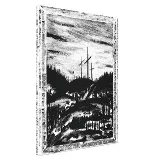 Resting Cross Canvas Print