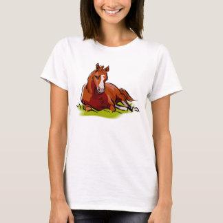 Resting Foal Quiet Horse Equine Theme T-Shirt