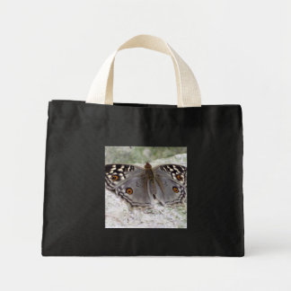 Resting Grey Butterfly Photo Image Tiny Tote Bag