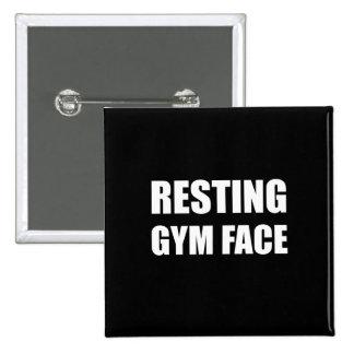 Resting Gym Face 15 Cm Square Badge