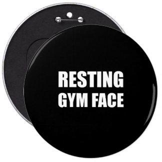 Resting Gym Face 6 Cm Round Badge
