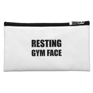 Resting Gym Face Makeup Bags
