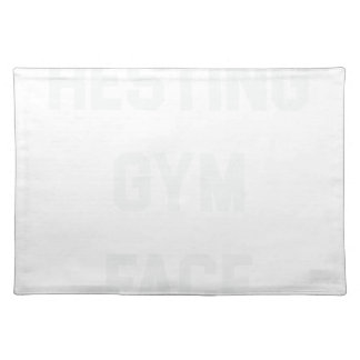 Resting Gym Face Placemat