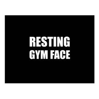 Resting Gym Face Postcard