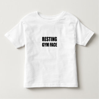 Resting Gym Face Toddler T-Shirt