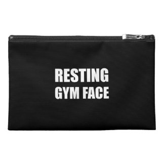 Resting Gym Face Travel Accessory Bag