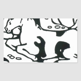 Resting horses by Franz Marc Rectangular Sticker