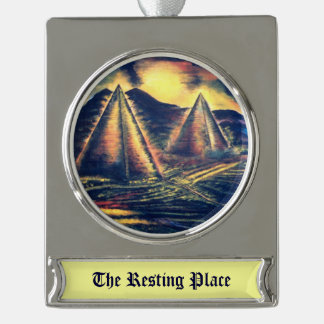 Resting Place Silver Plated Banner Ornament