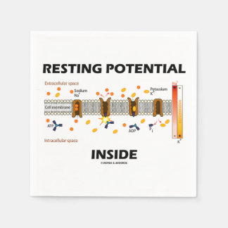 Resting Potential Inside Active Transport Humor Disposable Serviettes