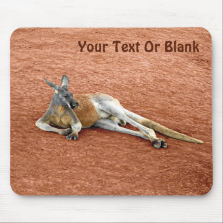Resting Red Kangaroo Buck Mouse Pad