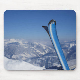 Resting Skis Mousepads