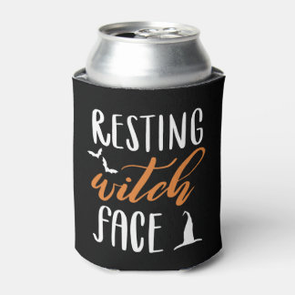 RESTING WITCH FACE CAN COOLER