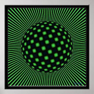 Restless Twisting Globe Poster
