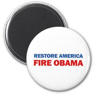 Restore America Fire Obama Magnet