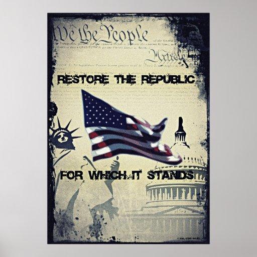 Restore The Republic Poster