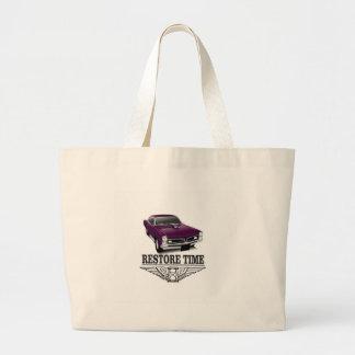 restore time large tote bag