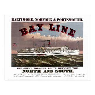 Restored Baltimore, Norfolk, Portsmouth Line Postcard