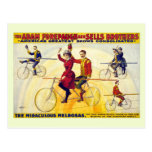 Restored bicyle acrobats Forepaugh Sells Postcards